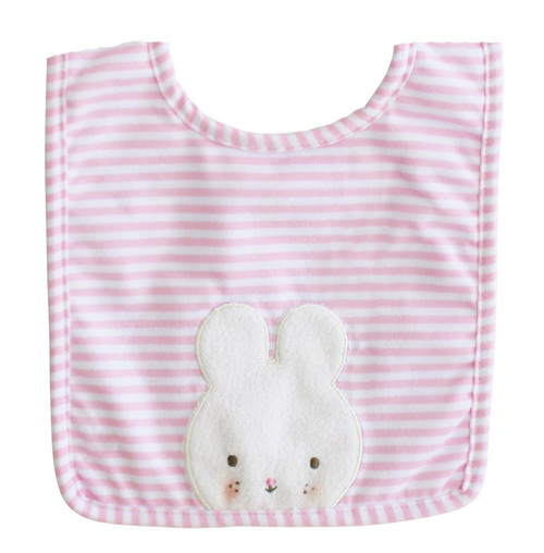 Alimrose bunny bib pink l | Sweet Arrivals baby hampers