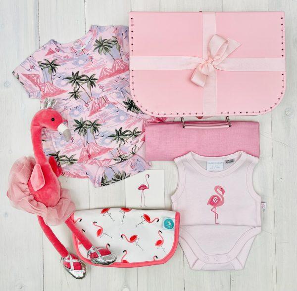 Pink Flamingo   Sweet Arrivals baby hampers
