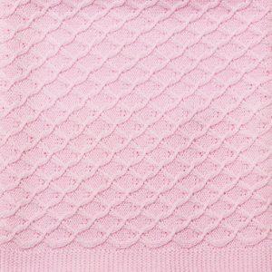 Emotion and Kids Lace Pink Bassinet Blanket