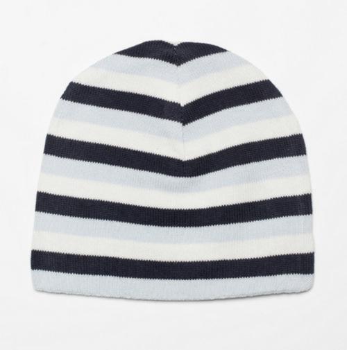 Emotion and kids blue stripe reversible hat | Sweet Arrivals Baby Hampers