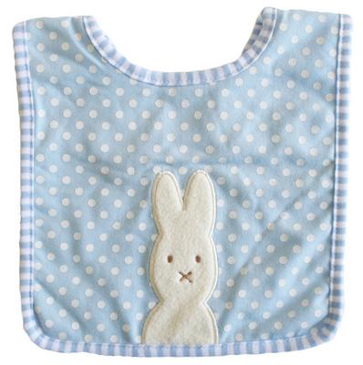 Alimrose Bunny Bib Blue