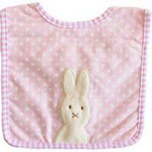 Alimrose Bunny Bib Pink