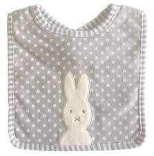 Alimrose Bunny Bib Grey