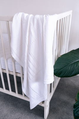 Emotion and Kids White Cotton Blanket