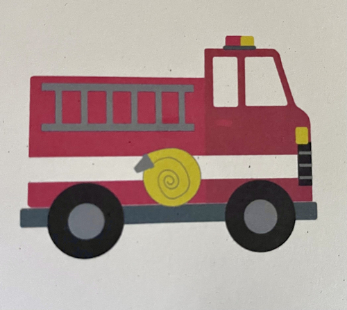 Fire truck card | Sweet Arrivals baby hampers