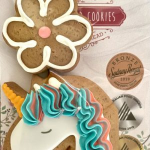 Adri's Gingerbread Unicorn and flower | Sweet Arrivals Baby Hampers