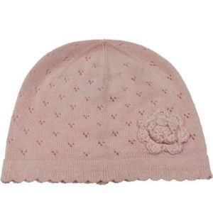emotion and kids pink crochet flower hat | sweet arrivals baby hampers