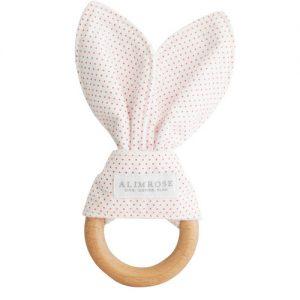 Alimrose Bunny Teether   Sweet Arrivals Baby Hampers