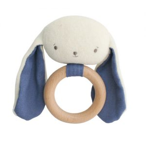 Alimrose bunny teether blue | Sweet Arrivals baby hampers