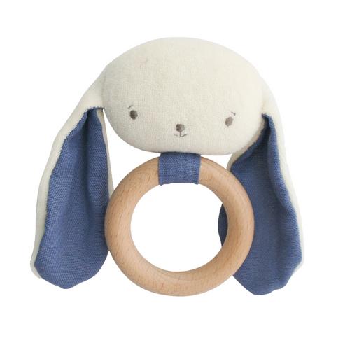 Alimrose bunny teether blue   Sweet Arrivals baby hampers