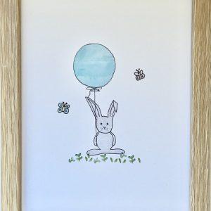 Framed Bunny Print | Sweet Arrivals Baby Hampers
