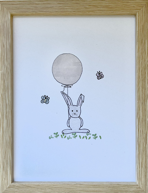 Framed bunny print   Sweet Arrivals Baby Hampers
