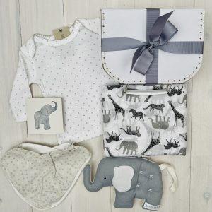 Grey Elephant | Sweet Arrivals baby hampers