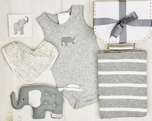 Grey Elephant | Sweet Arrivals Baby Hampers