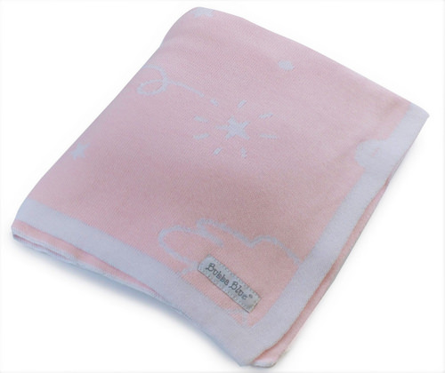 Bubba Blue Reversible knit blanket | Sweet Arrivals Baby Hampers
