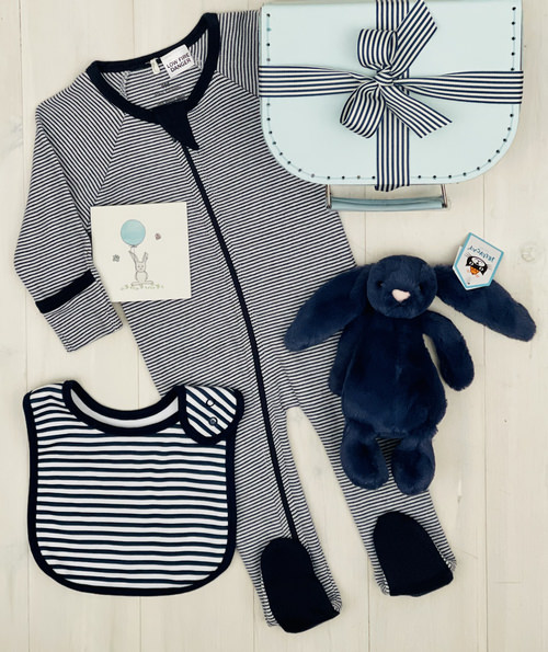 navy bunny | Sweet Arrivals Baby hamper