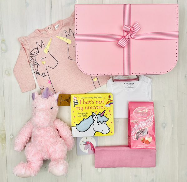 Pink Unicorn   Sweet Arrivals baby hampers
