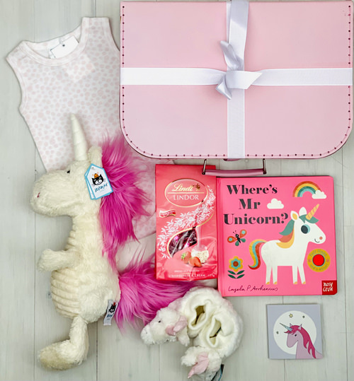 Pink Unicorn | Sweet Arrivals Baby Hampers