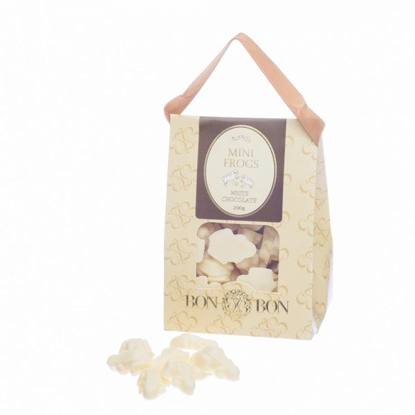 White Chocolate mini frogs | Sweet Arrivals baby hampers
