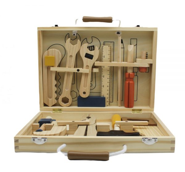 Wooden tool box   Sweet Arrivals baby hampers